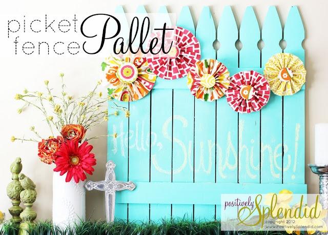 DIY Chalkboard Picket Fence Pallet, great #Easter idea