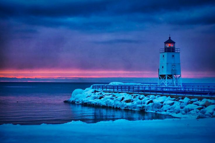 Charlevoix's South Pier Lighthouse, Michigan
