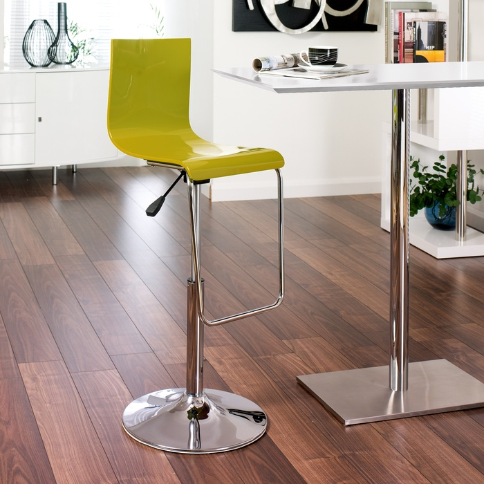 Whether youre looking to create a fabulous bar area, or just looking for a little bit of additional dining space, the Sicily Bar table is a great way to add a touch of glamour to your room. Complemented by 2 stunning lime green Straight back barstools, it is a fantastic alternative to building a breakfast bar! The matching metal bases, and pop of colour thanks to the striking lime green gloss, will create a statement in your kitchen or dining area. It will fit easily into a space of around…