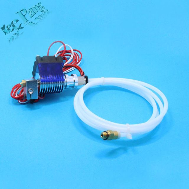 3D impresora V6 tubo extrusora de cabezal de impresión con cable remoto y Soporte del ventilador de refrigeración, J-HEAD con bowden y ventilador de refrigeración