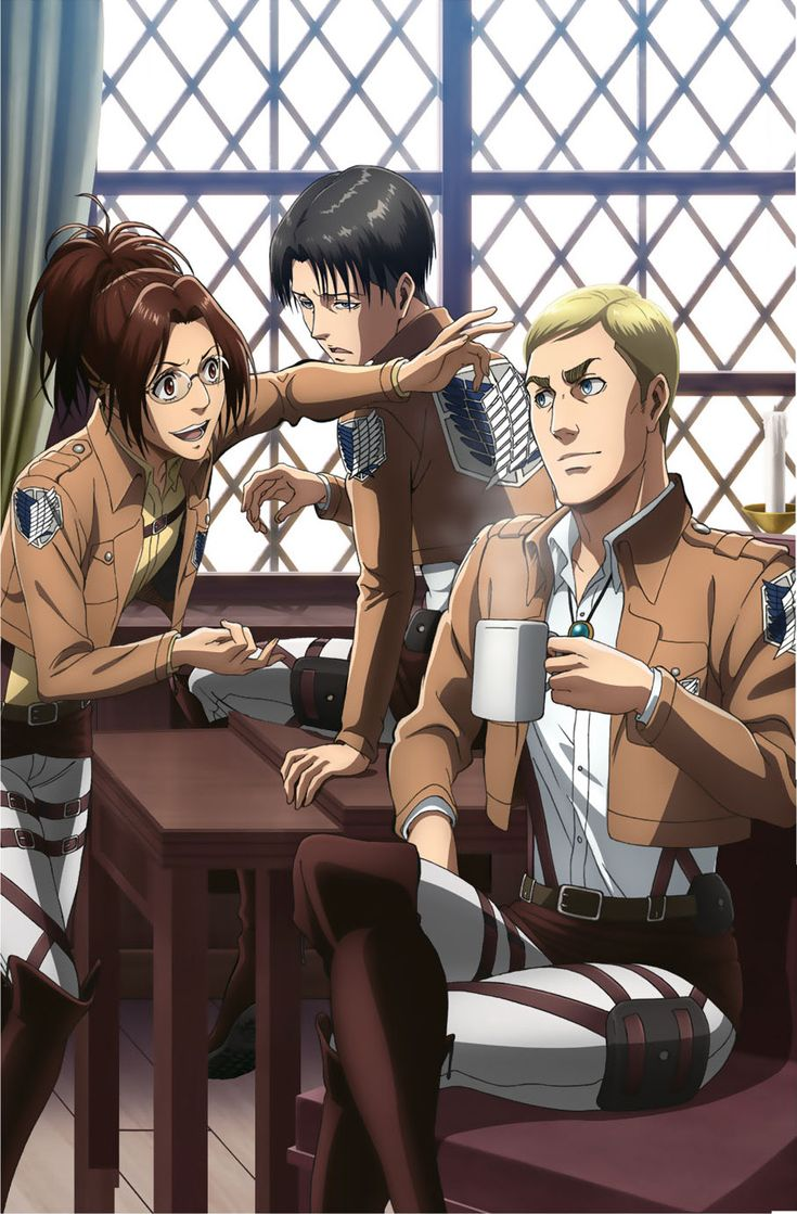 Erwin Smith official arts - in uniform   Attack on titan ...