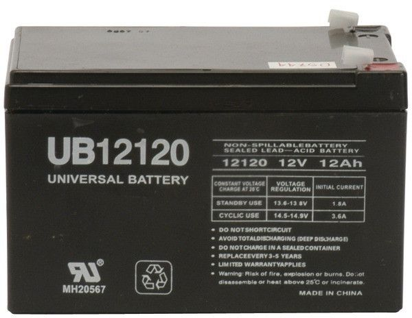 UPG - Sealed Lead Acid Batteries (12V; 12Ah; .187 Tab Terminals; UB12120)