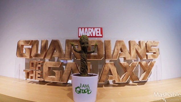 """This is for all you """"Guardians of the Galaxy"""" fans out there: Marvel will be releasing this adorable singing and dancing baby Groot toy just in time for the"""