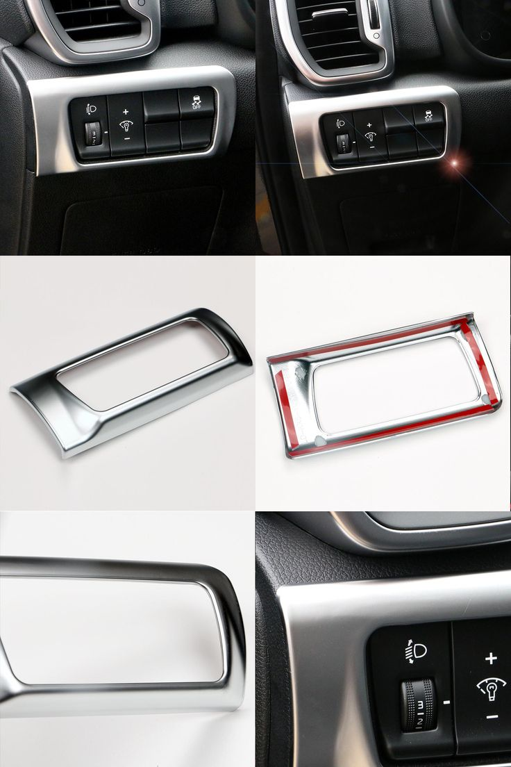 visit to buy car styling headlight adjustment button switch cover sticker interior decoration accessories
