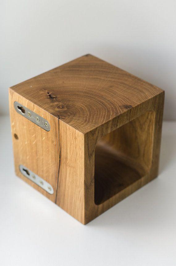 Wandleuchte Q #322 handgefertigt. Wandleuchte. dunkelbraun bog Eiche/Eiche Holz Lampe. Holz-Lampe. Wandleuchte. minimalistische Lampe. Interior design