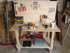best 25 kids workbench ideas on pinterest kids tool. Black Bedroom Furniture Sets. Home Design Ideas