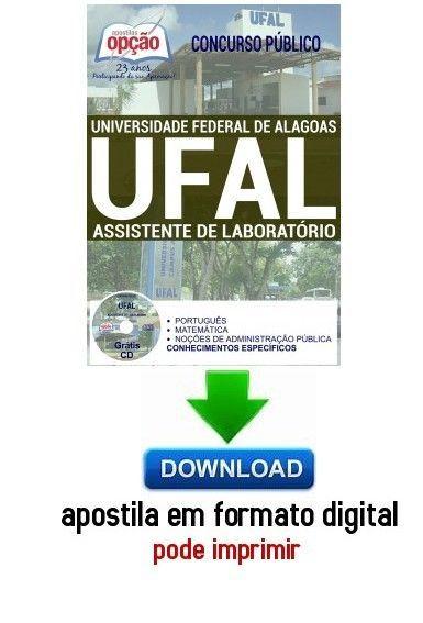 Apostila - ASSISTENTE DE LABORATÓRIO - Universidade Federal de Alagoas (UFAL)