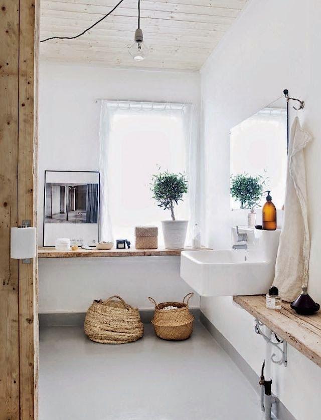 rustic and minimal bathroom