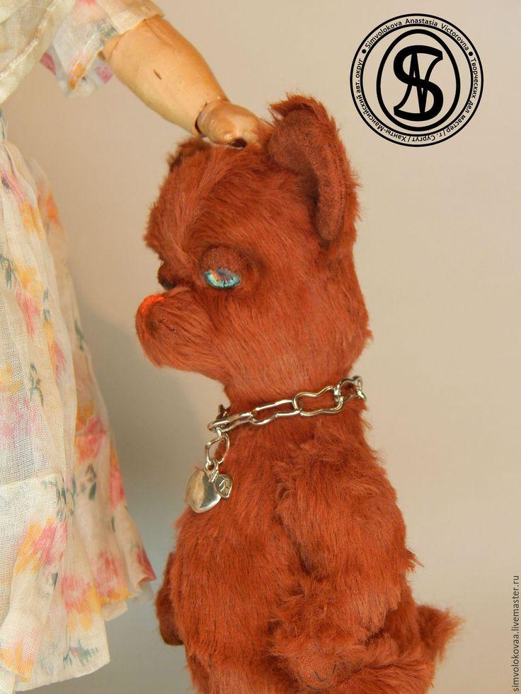 """Купить """"Шурик"""" - коричневый, символокова, авторская выкройка, подарок, пес, собачка, щенок, песик, тедди"""