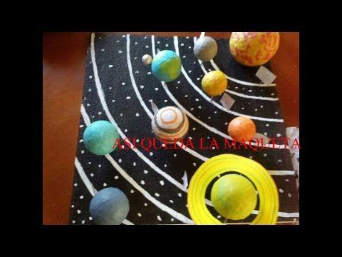 como hacer una maqueta del sistema solar (How to make the solar system) - YouTube