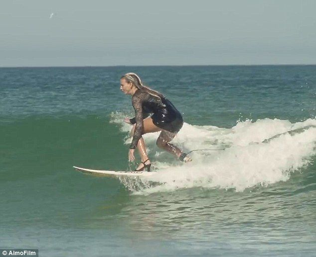 Maud Le Car (pictured), 23, is a professional surfer from St. Martin in the French Caribbe...
