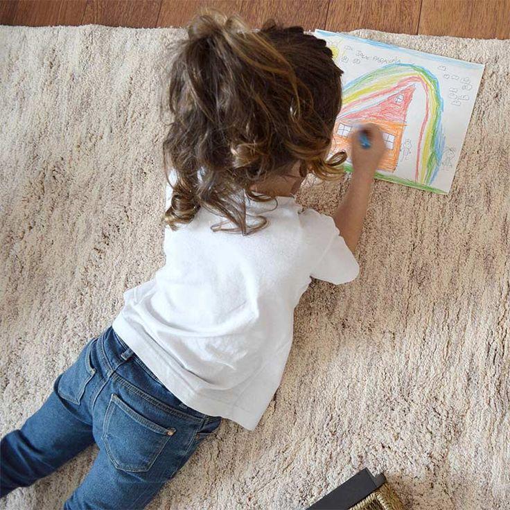 Teppich Washable Baumwolle Ritika sand beige von Lorena Canals