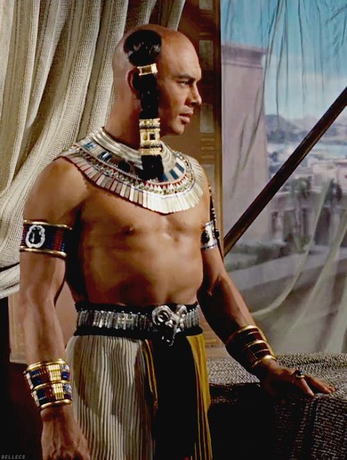 The Ten Commandments (1956), directed by Cecil B. DeMille, with Yul Brynner as Ramses