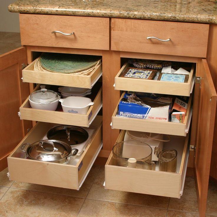 Die besten 25+ Pull out kitchen shelves Ideen auf Pinterest Diy - ordnung im küchenschrank