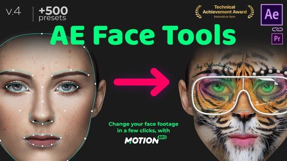 After Effects Templates Ae Face Tools In 2021 Face Tools Face Application Face Id