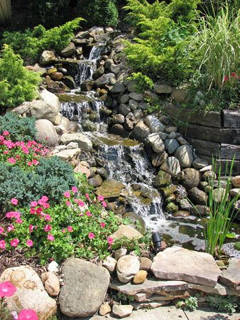 Backyard Waterfalls Ideas waterfall designs hgtv Backyard Waterfall