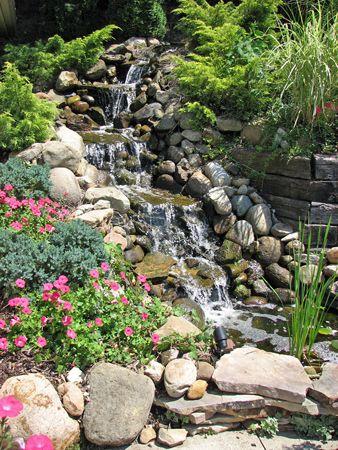 25 best ideas about pond waterfall on pinterest diy for Rock garden waterfall designs