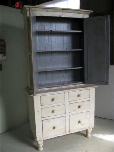 2 Piece Hutch With 6 Drawers