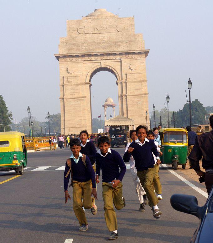 New Delhi - studenti in libertà