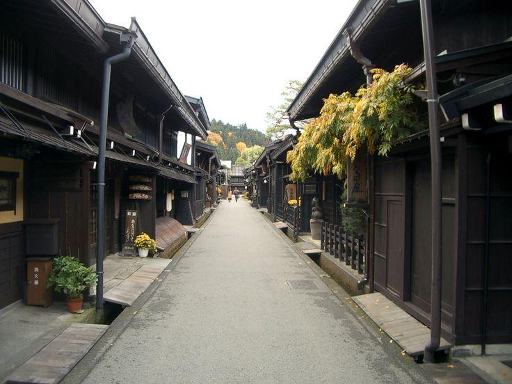 De oude stad van Takayama. Dit is een gebied vol met traditionele huizen, winkels en restaurants. De geschiedenis van iedere winkel in deze stad is nauw verbonden aan de cultuur van de stad. #Takayama