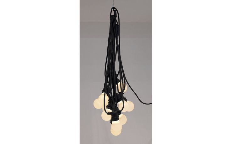 Bella Vista Festoon Lighting Seletti Suitable For Outdoor Use Long Light Garlands Featuring Ten Led Lights Styled Like Contemporary Golf Ball