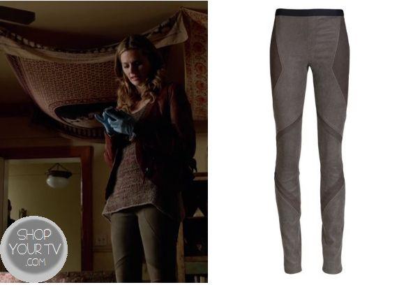 Helmut Lang Embossed Leather Leggings. Castle: Season 6 Episode 4 Kate's Leather Paneled Leggings - ShopYourTvShopYourTv