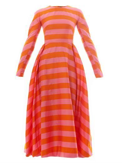 Annie striped-crepe midi dress | Emilia Wickstead | MATCHESFAS...