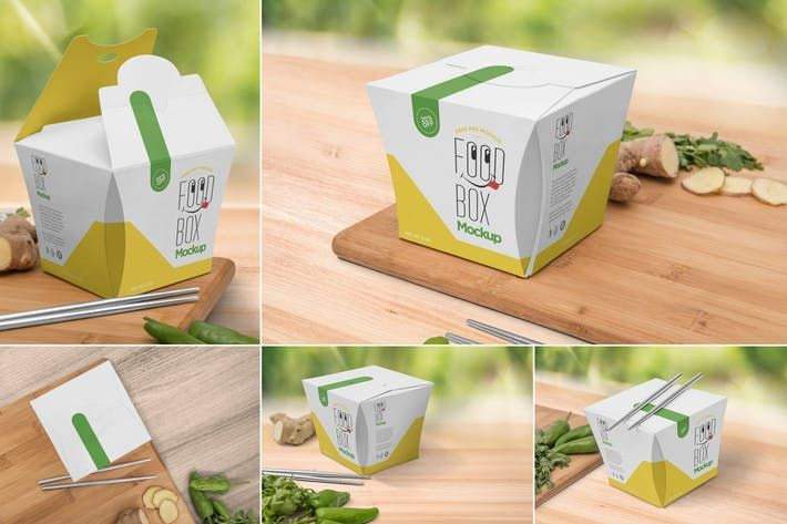 Download Lunch Box Mockups By Zippypixels On Envato Elements Box Mockup Packaging Mockup Psd Template Free
