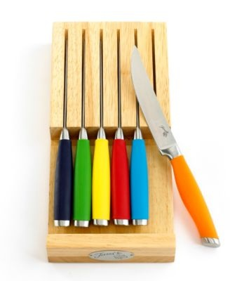 Want!! Steak Knives, 6 Piece Set with In-Drawer Block.