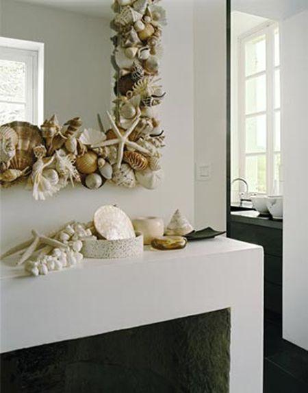 M s de 1000 ideas sobre espejos de conchas de mar en for Espejo que no se empana