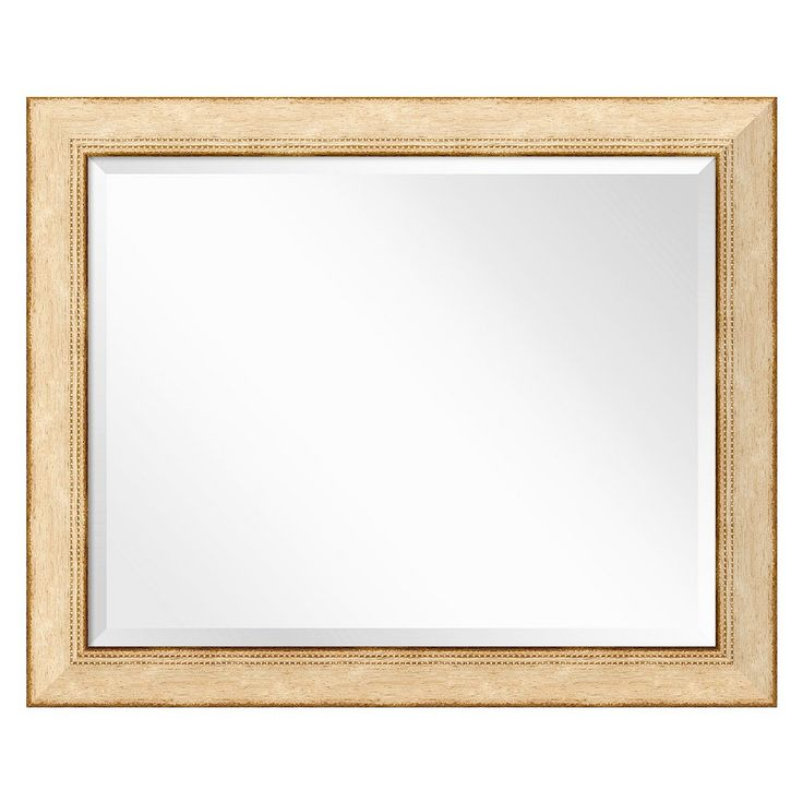 Highland Park Cream Wall Mirror - Large' 33 x 27-inch, Corolla Sand