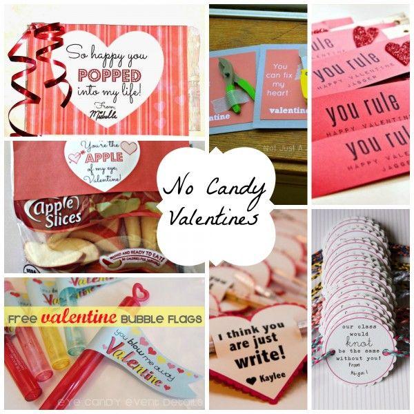 No candy valentine ideas shared on Design Dazzle! #valentines