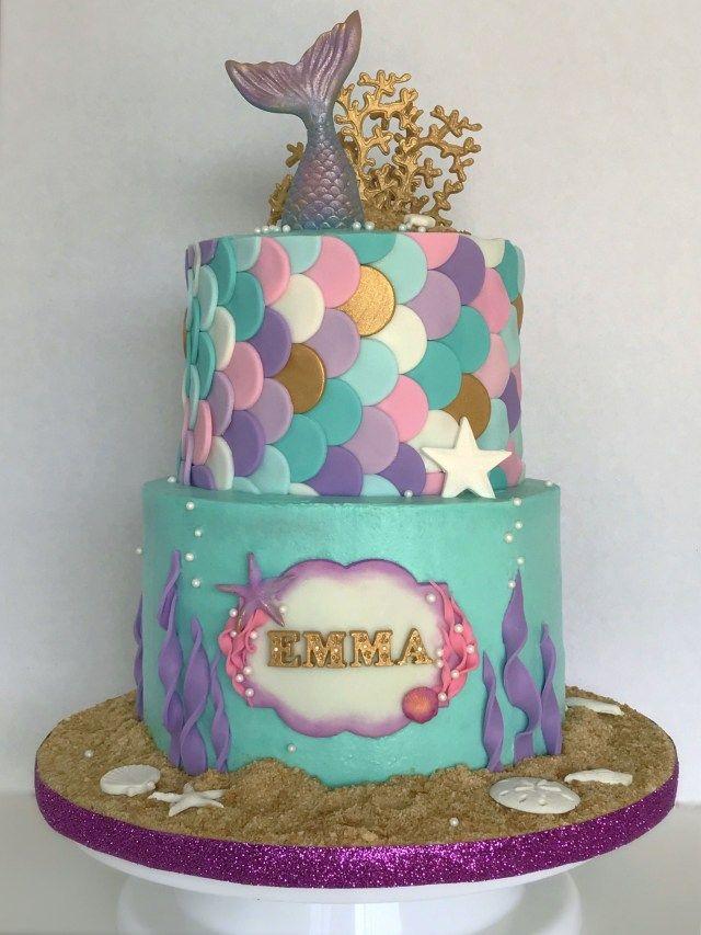 20+ Elegant Photo of Ariel Themed Birthday Cake . Ariel Themed Birthday Cake Mer…  – birthday cake decoration