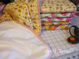 Hopeful Threads: TUTORIAL - Reusable Absorbent Underpads - Bed pads