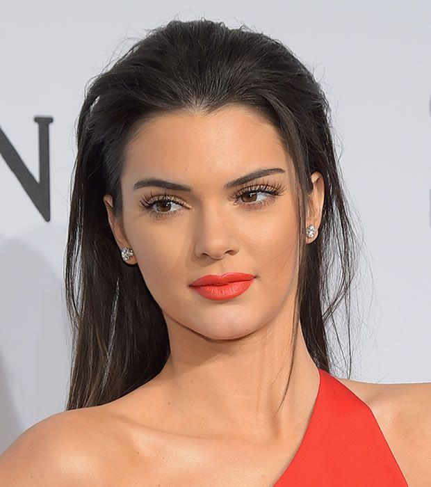 Kendall Jenner Orange-Red Lipstick