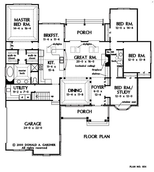 Floor Plans Images On Pinterest: The Nottingham - Don Gardner #W-BING-854
