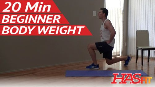 20 Min Beginner Bodyweight Workout – HASfit Easy Workouts without Weights – Body Weight Exercises