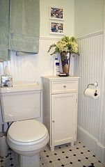 like this for our teeny tiny ... errrr COZY bathroom