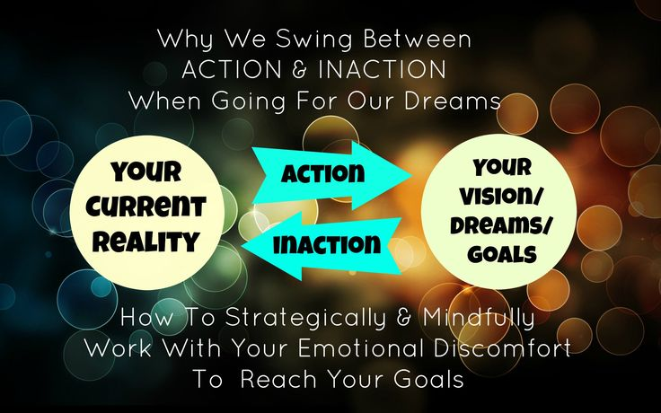 Why We Swing Between ACTION & INACTION When Going For Our Dreams