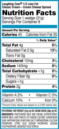 Fat free cream cheese nutrition facts enough TOP