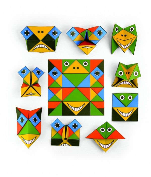 FUNNY FACE ORIGAMI www.greenmind.co.nz