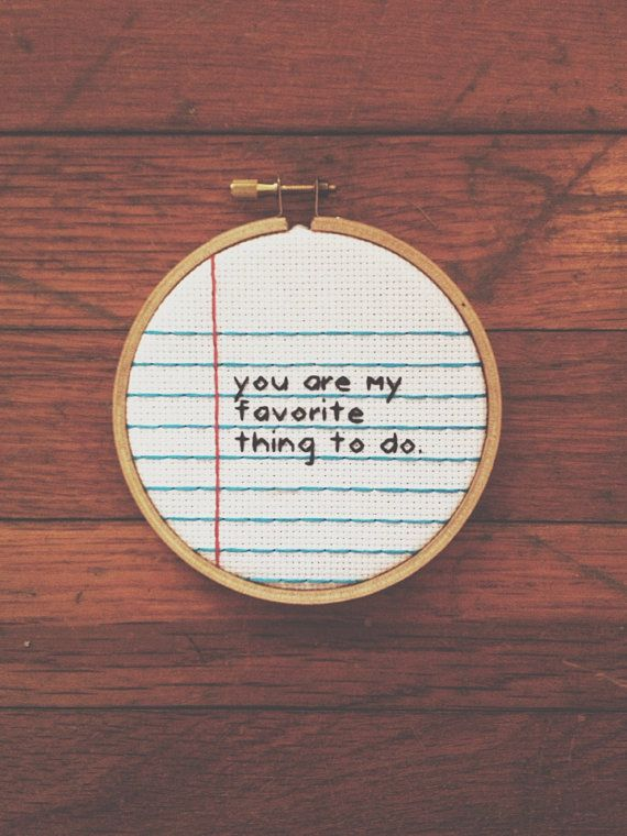 Paper Cross Stitch but use a different quote haha