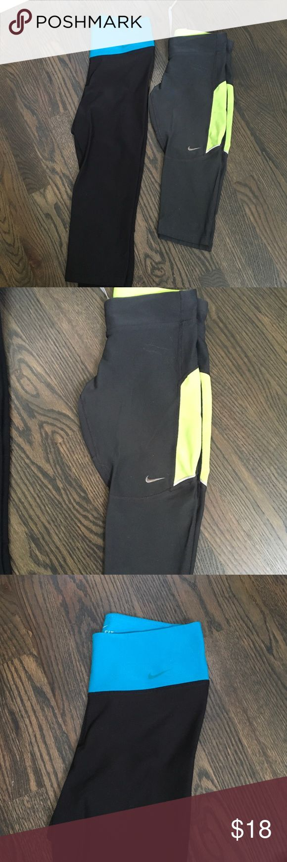 Pair of Nike capris Get these two great pairs of Nike capris in size extra small! Nike Pants Capris