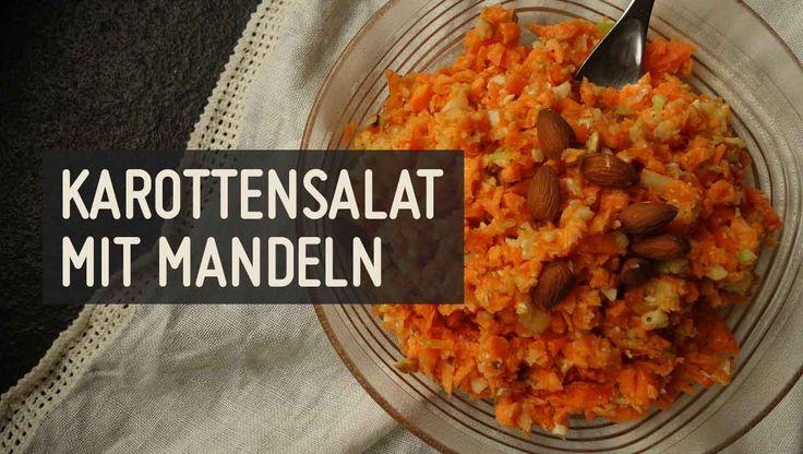 Karottensalat mit Mandeln – Paleo360.de