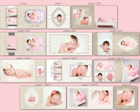 0350 10x10 Photoshop PSD Book Album Template - Taylor- Perfect for Wedding, Birth, Baby, Children, Engagement - Exact Size, Whcc or Mpix