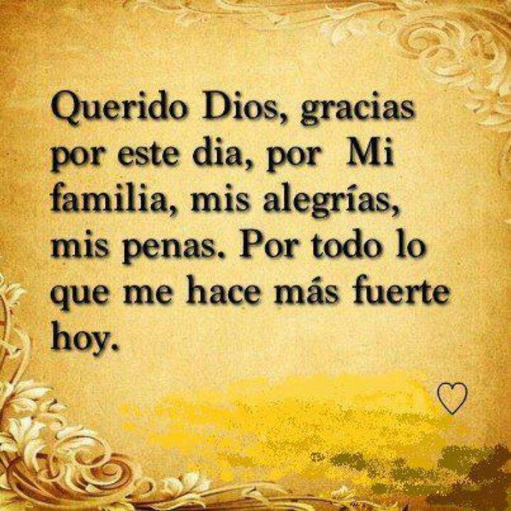 Querido Dios, gracias...