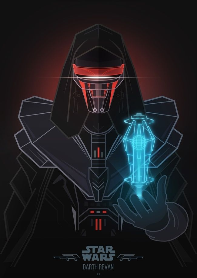 Star Wars Villains - Darth Revan, an art print by Jonathan Lam - INPRNT