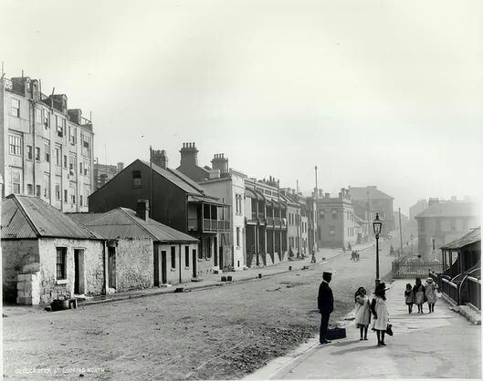 1901.Gloucester St,looking north,The Rocks,Sydney.Photo from State Records of NSW.A♥W