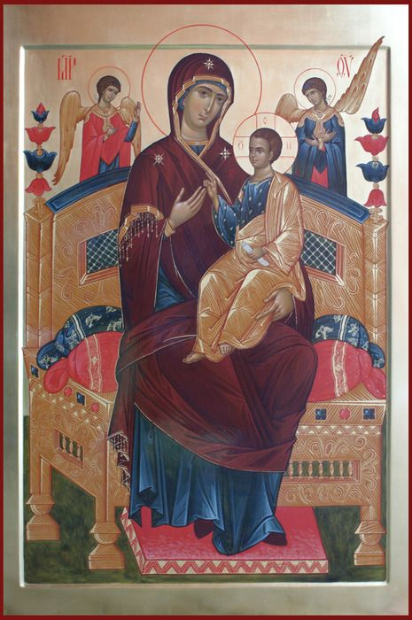 Our Holy Mother Enthroned  /  Спас и Богородица