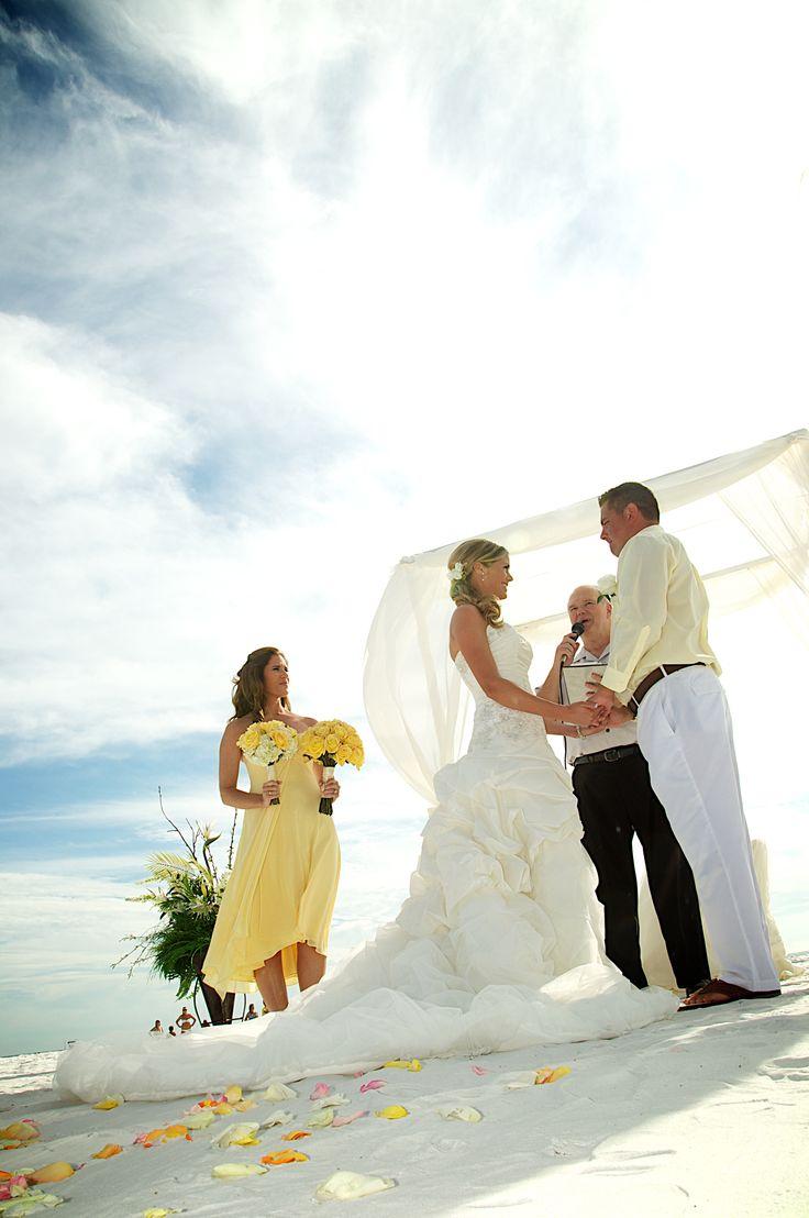 Lemon Yellow Beach Wedding Theme: How to Incorporate the color Lemon Yellow in your beach wedding theme.... #yellow #beach #wedding